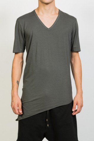 Asymmetric V-Neck T-shirt