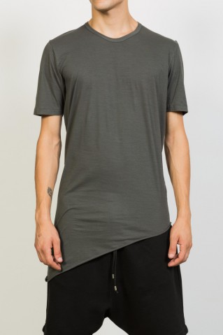 Asymmetric Round Neck T-shirt