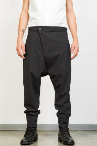 Asymmetric Low Crotch Pants