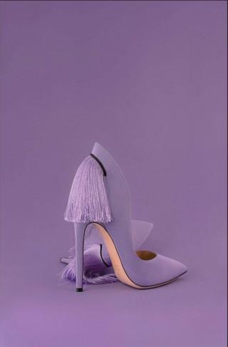 Izo purpule high heel shoe