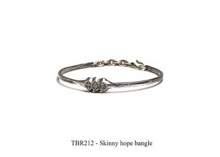 Skinny hope bangle