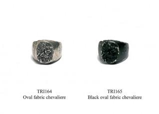 Black oval fabric