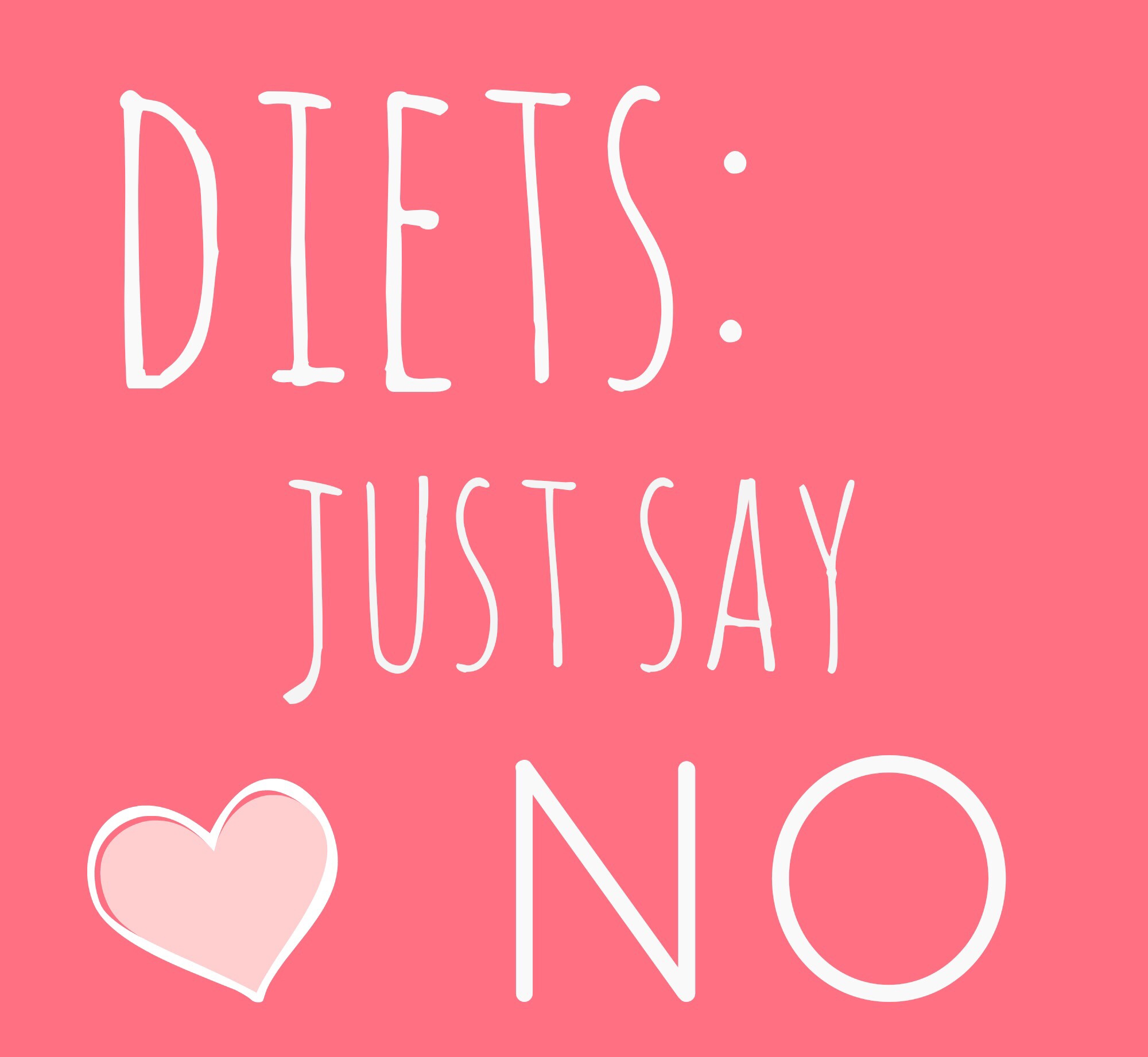 I am pledging to stop all diets in 2016, join me!