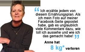 Anne hat 8 kg verloren