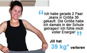 Jill hat 39 kg verloren