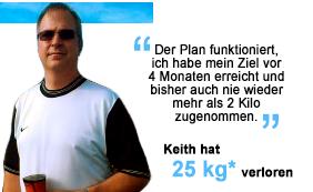 Keith hat 25 kg verloren
