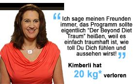 Kimberli hat 20 kg verloren