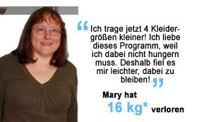 Mary hat 16 kg verloren