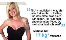 Melissa hat 17 kg verloren