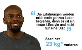 Sean hat 23 kg verloren