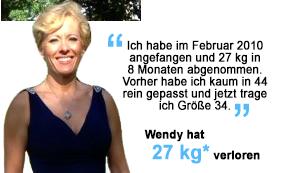 Wendy hat 27 kg verloren