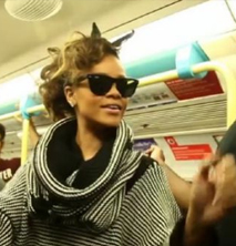 Rihanna takes a ride on the Tube