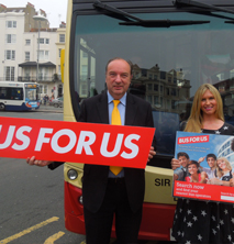 Transport Minister & Brooke Kinsella MBE launch young person's bus site