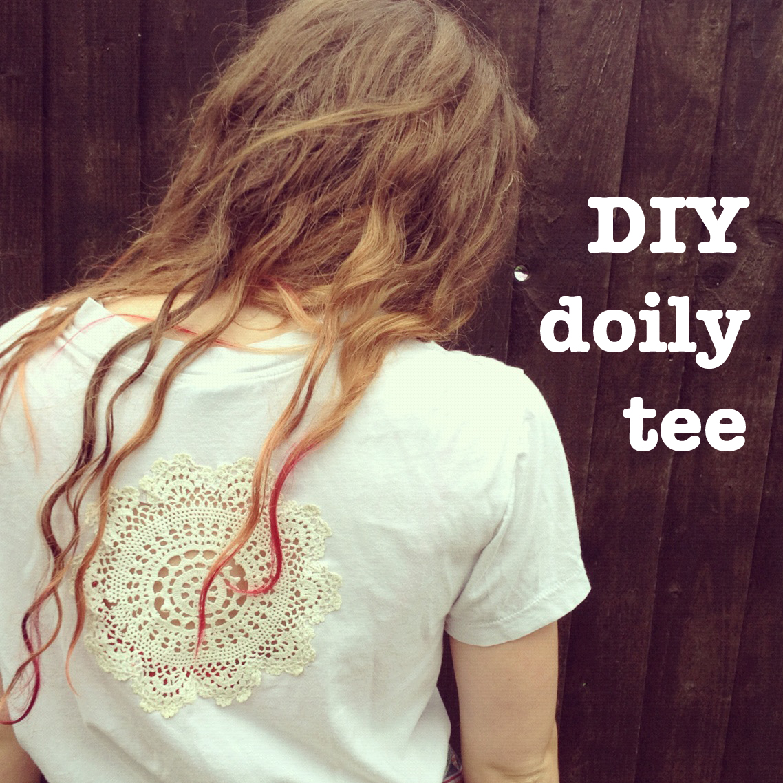 DIY doily t-shirt