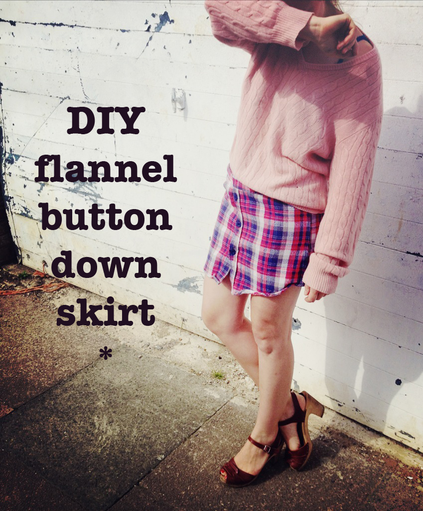 DIY flannel skirt