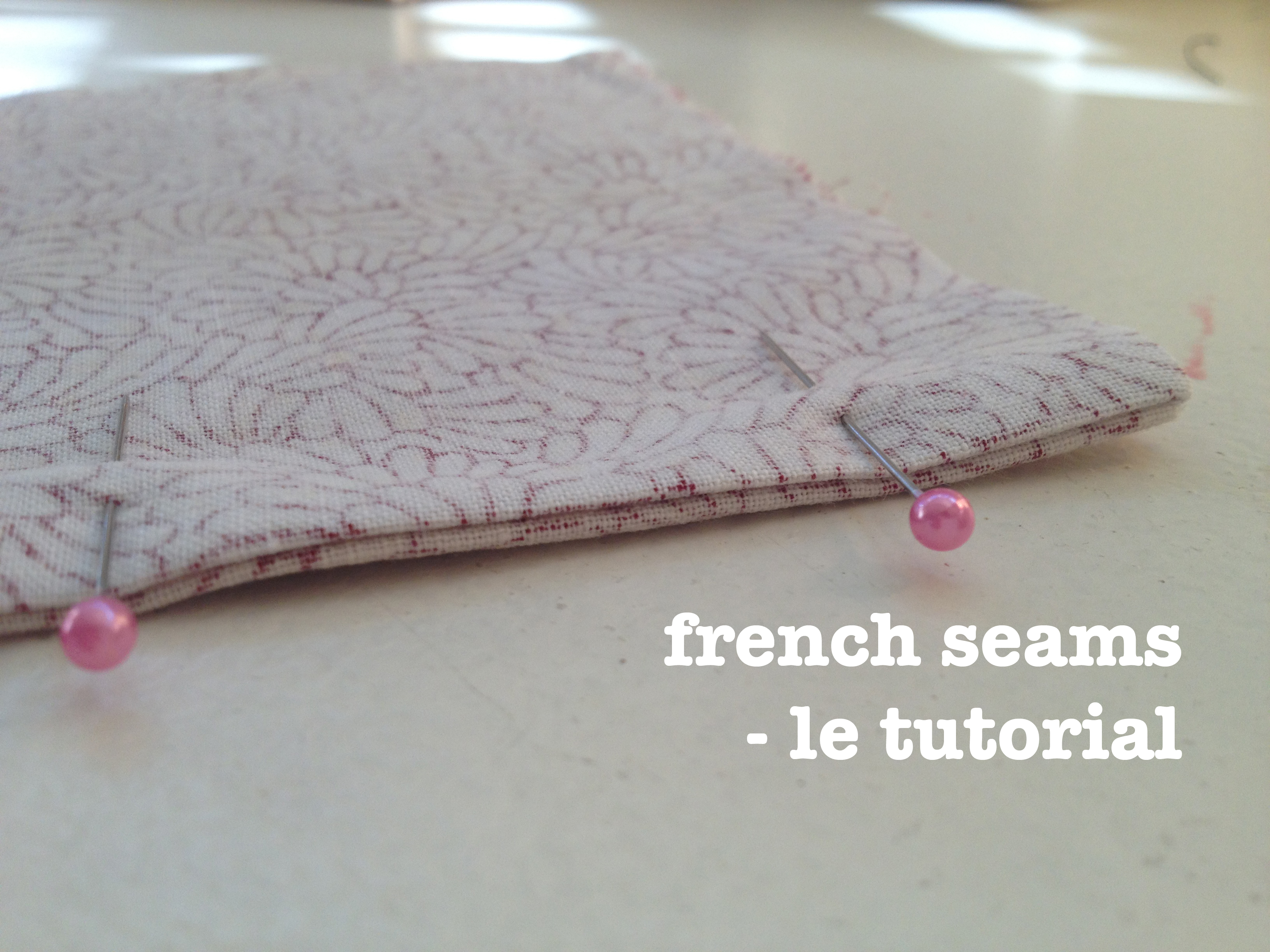 Nerdy sewing tips - French seams