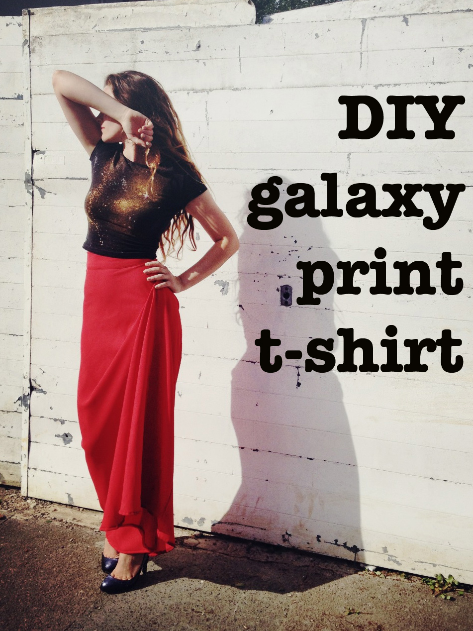 DIY Galaxy print t-shirt