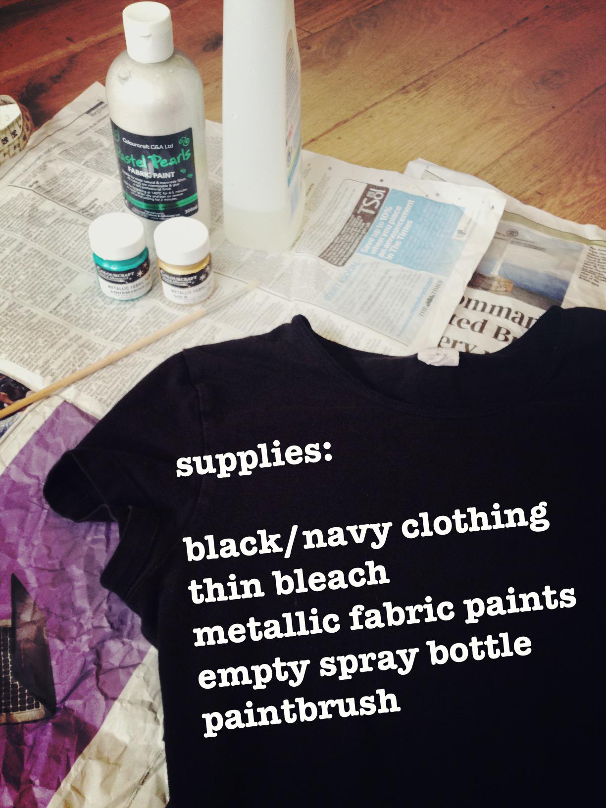 Diy Galaxy Print T Shirt By Hand London