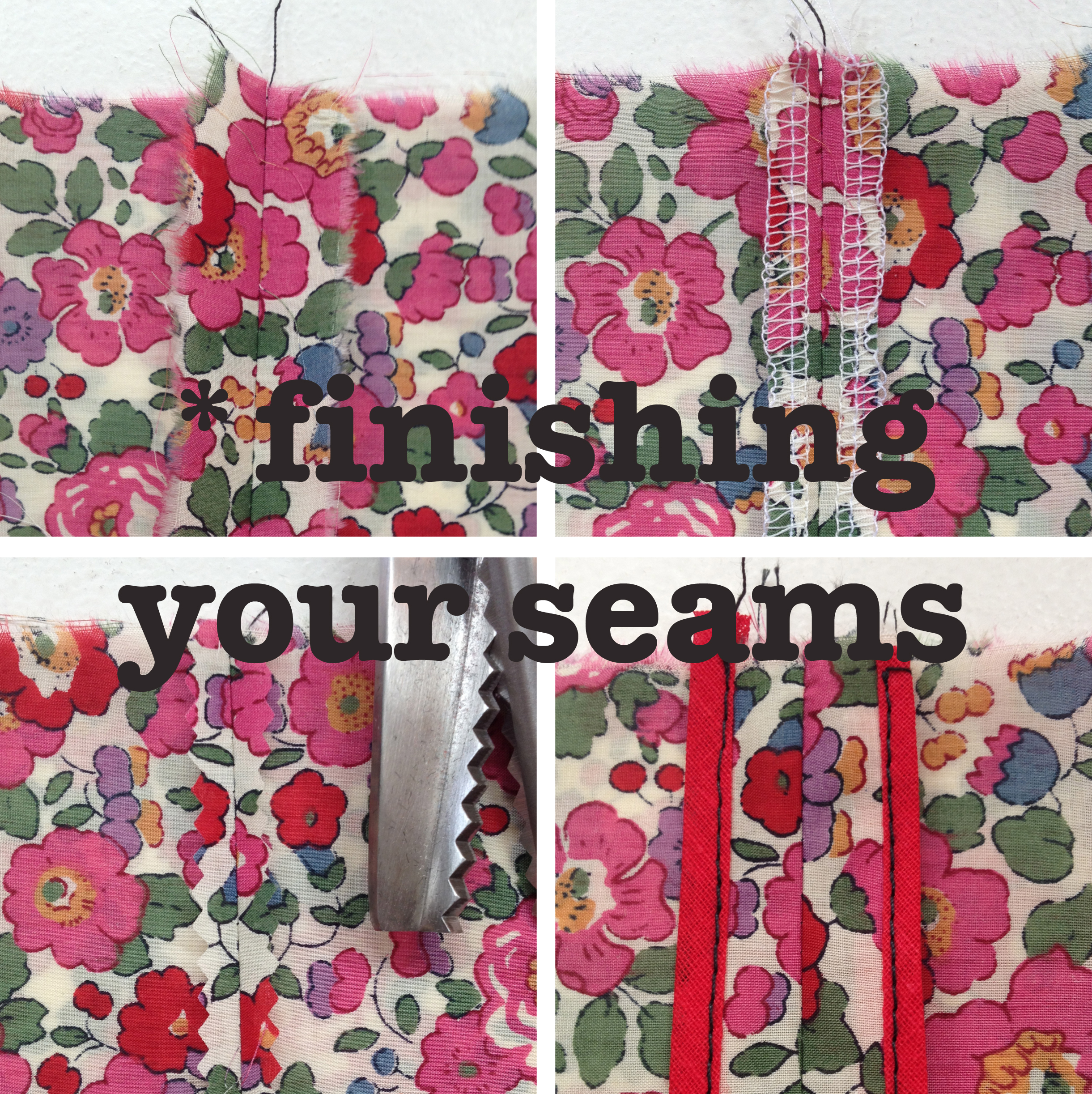 Nerdy sewing tips - finishing your seams