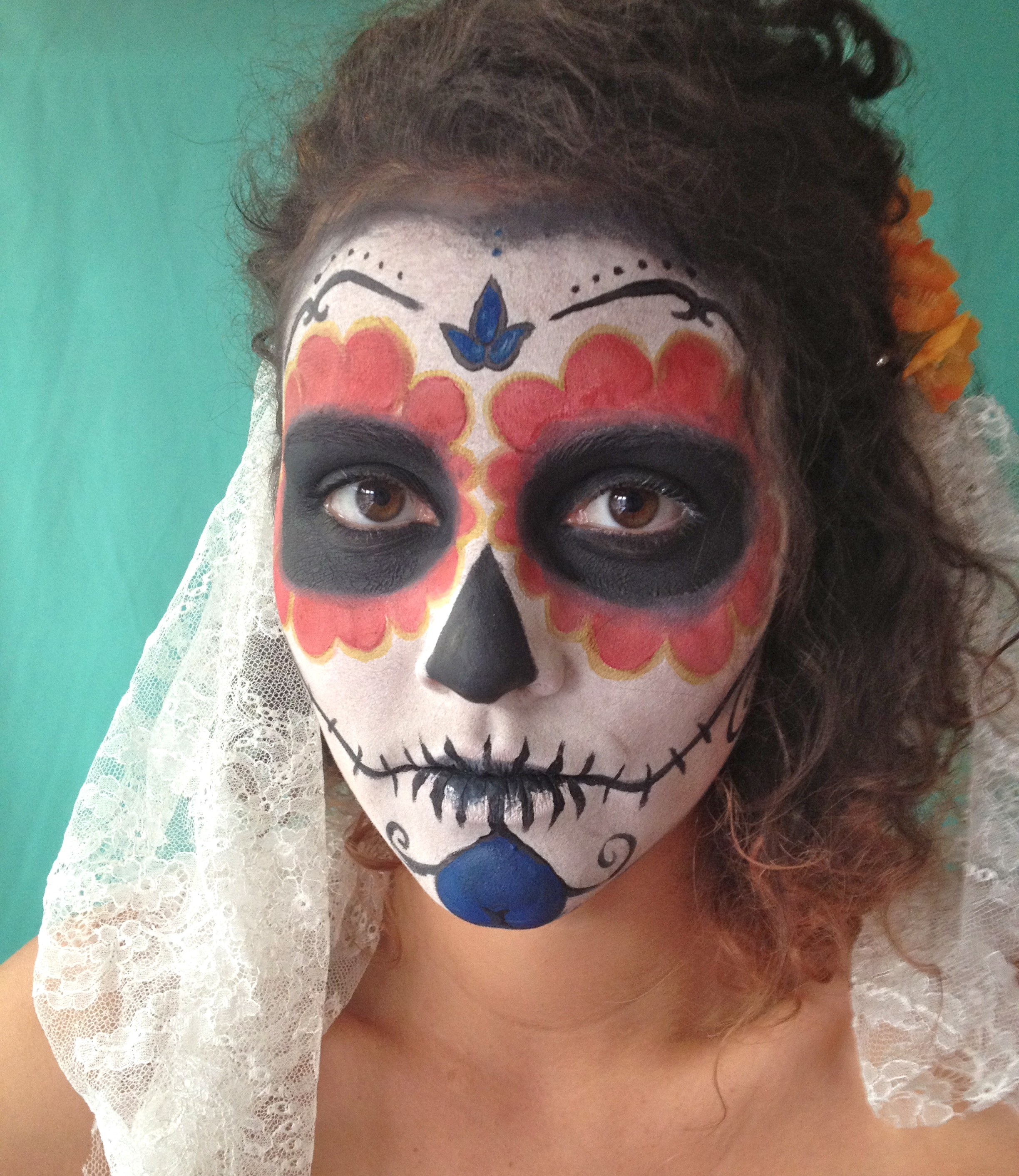 diy day of the dead part 1 the face - Halloween Day Of The Dead Face Paint