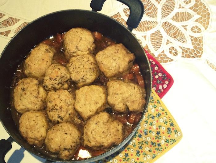 Real women eat... stew & dumplings