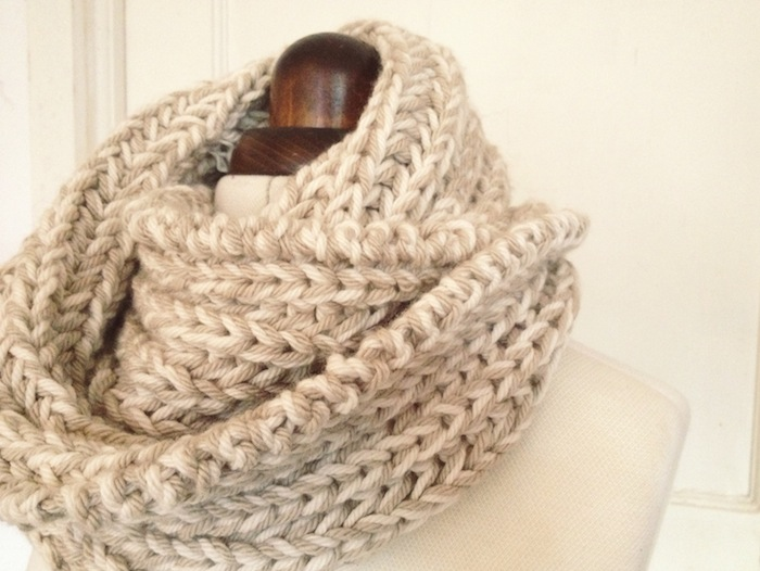 DIY Giftables #1: 2 simple snoods - a free knitting pattern   By Hand London