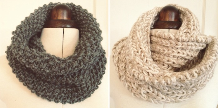 7885f49fddc88 DIY Giftables  1  2 simple snoods - a free knitting pattern – By ...