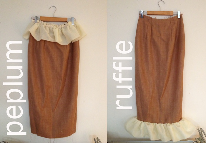 Charlotte Skirt Sewalong #3: Peplums & ruffles!