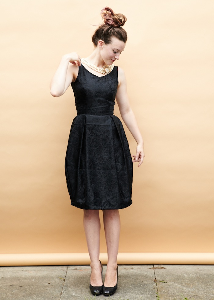 Elisalex dress - silk jacquard - by hand london