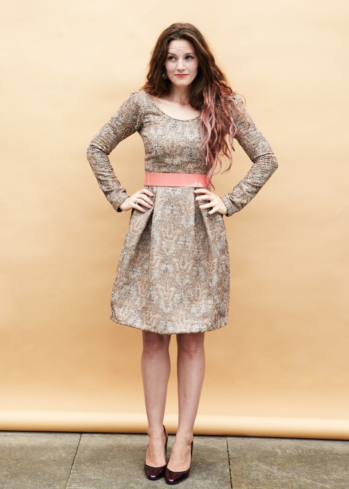 elisalex dress - bronze tweed - by hand london