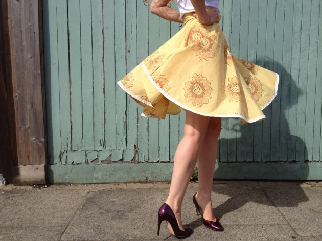 Calling all beginners! Learn to sew a circle skirt with By Hand London