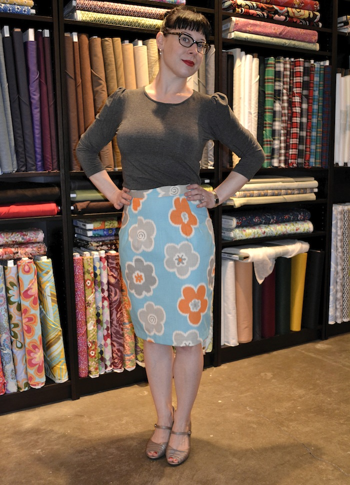 Sarah Grey & her Charlotte Skirt - By Hand London