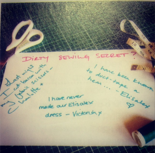 Tell us your #DirtySewingSecret and win!