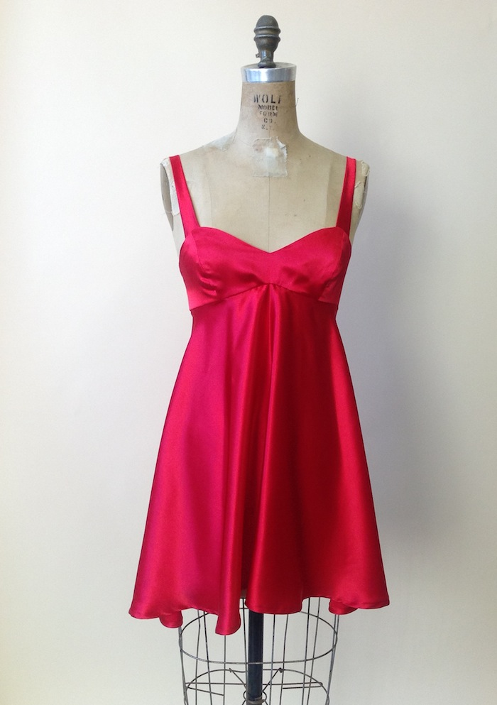 Valentine's pattern hack: the Georgia Dress boudoir babydoll!