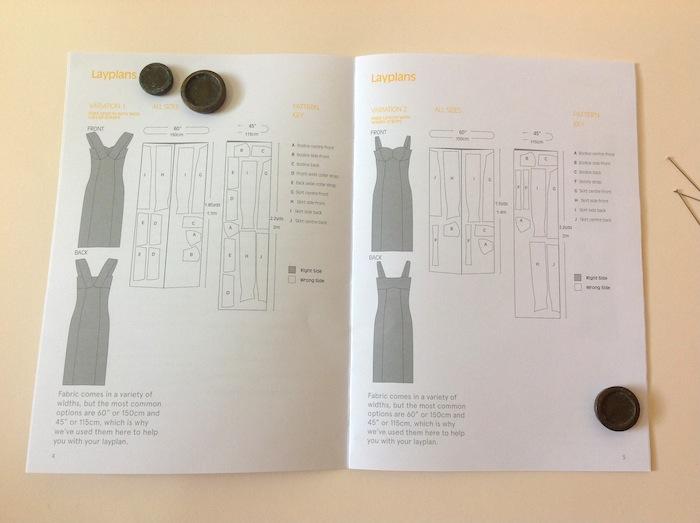 georgia dress sewalong - cutting your fabric - by hand london