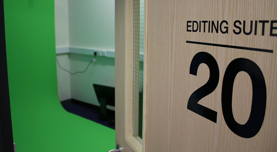 Big Creative Education Media Editing Suite and Green Screen Room