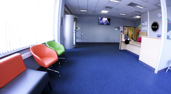 Big Creative Education Reception Area