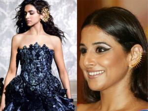 Deepika Padukone Vidya Balan Ear Cuffs