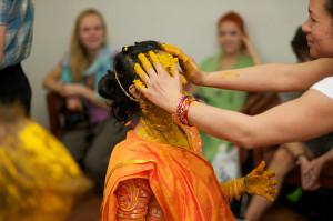 Indian Wedding Haldi Ritual