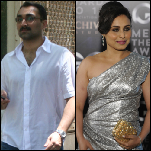 aditya chopra and rani mukerji - wedding bells