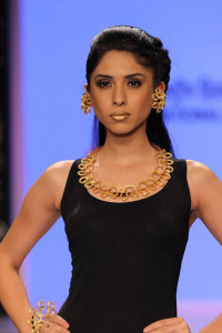 Graduates from NID present their collection for Sun Jewels at the IIJW 2014 Je