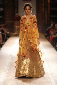 Anju Modi's Indian Bridal Collection on the ramp at Lakme Fashion Week Winter Festive 2014