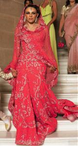 Liz Hurley in a Pink Wedding Lehenga
