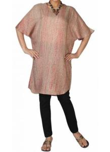 Neeru Kumar-_tan and red tritik silk tunic