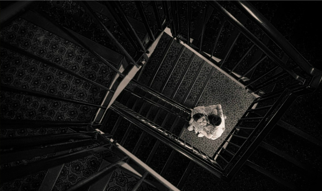 Romantic stair shot - Indian wedding