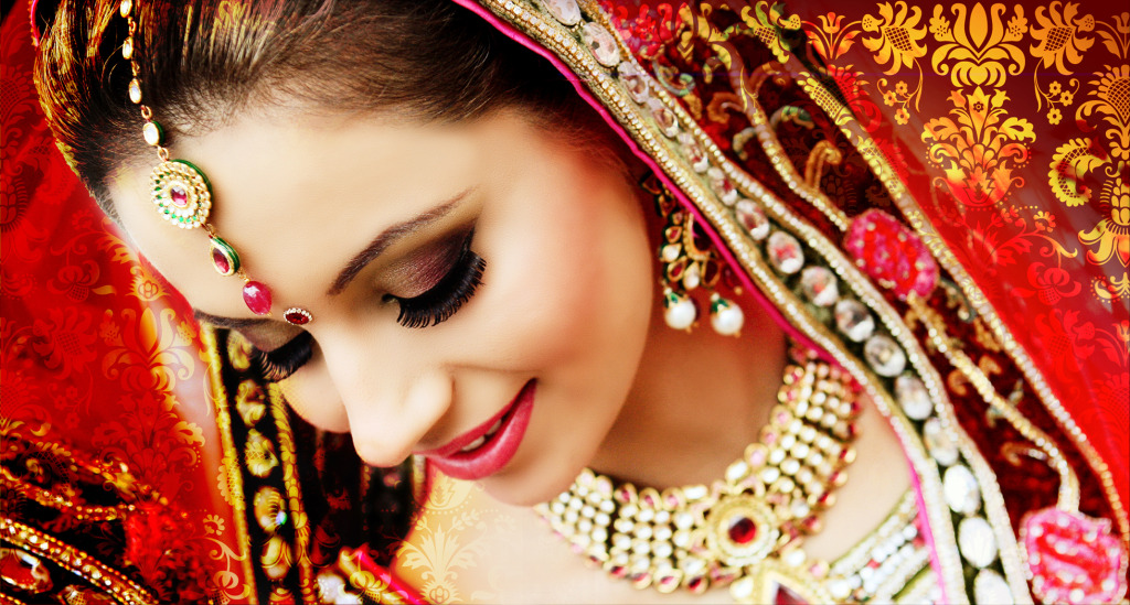 Beautiful bride in red - Bridal lehenga