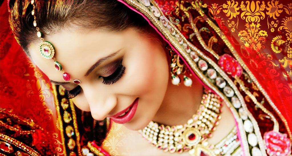 Beautiful bride in red - Bridal lehenga