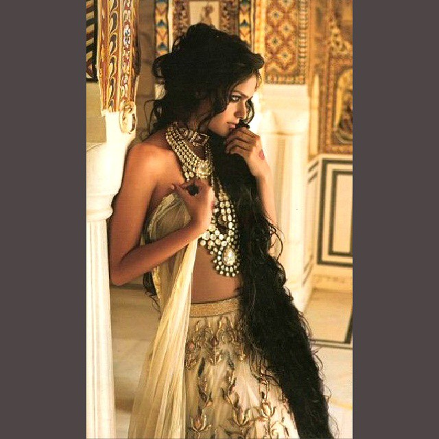 I am so in love with this ethnic bridal look! #bride #editorial