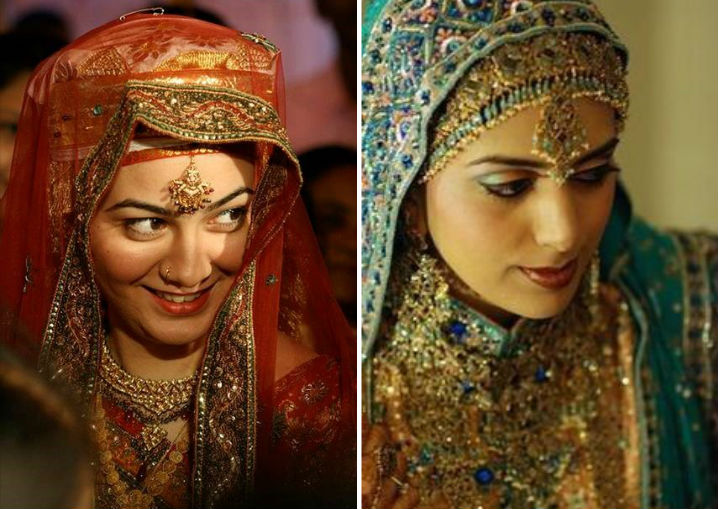 Indian Bridal Dresses - Kashmiri Pandit and Muslim Bride