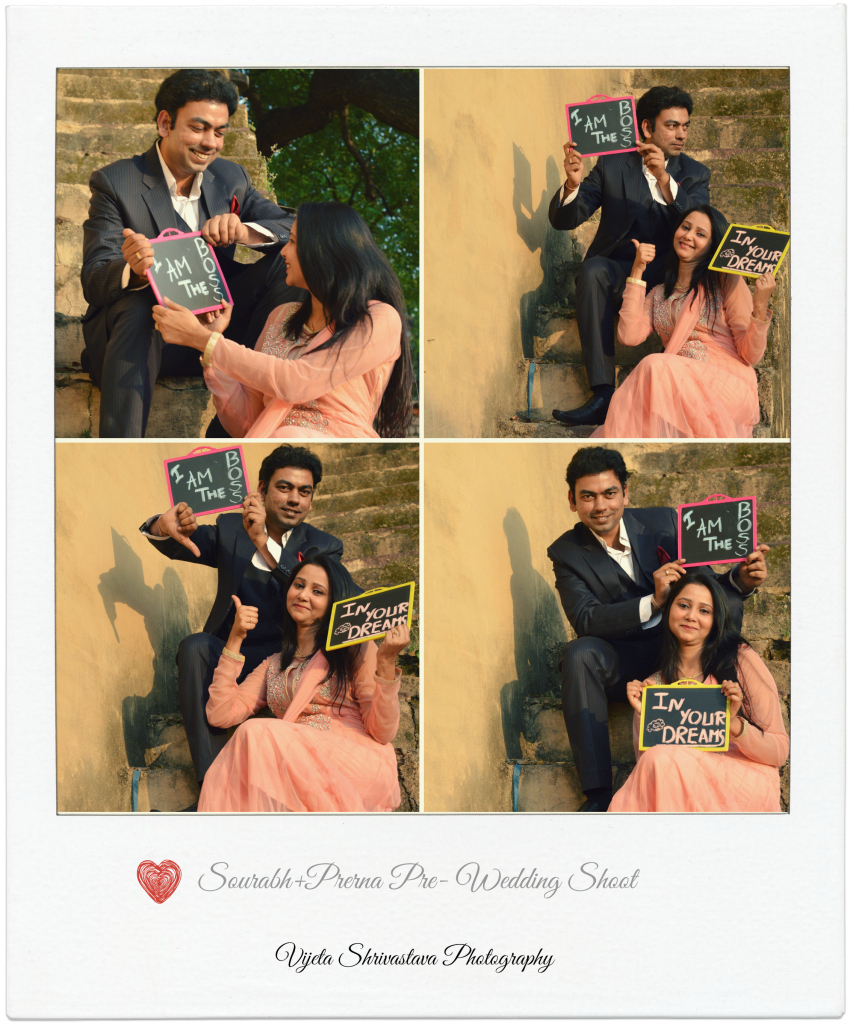 An adorable bride and groom collage